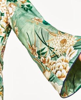 Zara Printed Kimono, close up