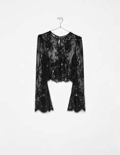 Bershka Black Lace crop top
