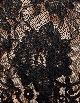 Bershka Black Lace Crop top, close up