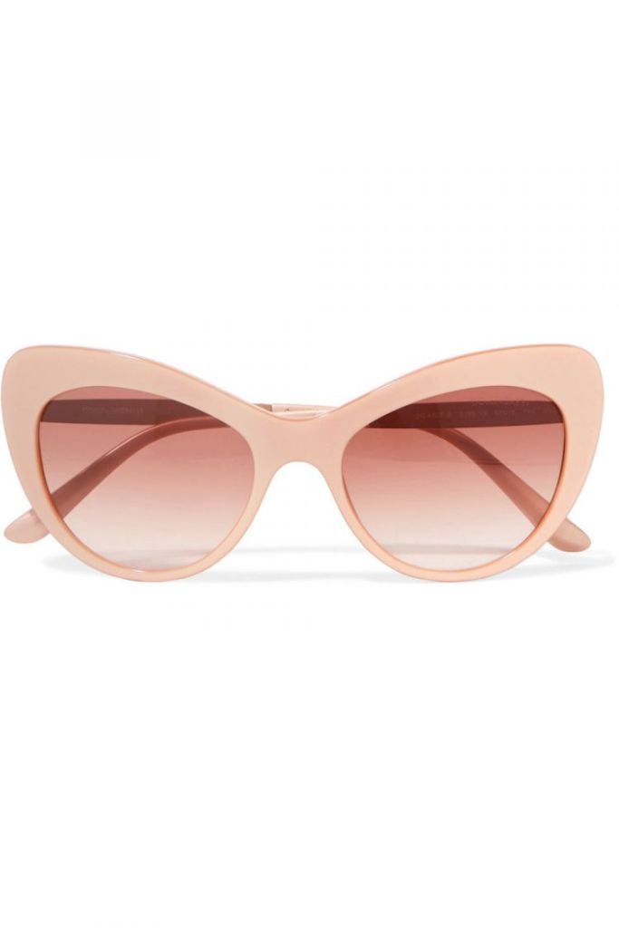 Crystal Embellished Cat-Eye Acetate Sunglasses